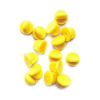 Extra Rubber Pin Backs - Yellow (Set of 15)