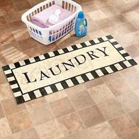 """48"""" Laundry Decorative Cushioned Kitchen Floor Runner Rug Foam Rubber Backing"""