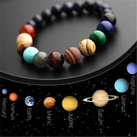 Eight Planets Bead Bracelet Men and Women