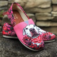 Illustrated Pit Bull Casual Shoes