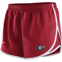 Georgia Bulldogs Nike Women's Modern Tempo Performance Shorts - Red