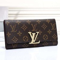 LV Wallet Metal Buckle Tanrtan Women Men Leather Purse Wallet H-MYJSY-BB