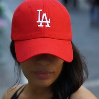 Los Angeles Represent polo dad hat, red