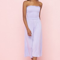 Wide Leg Bandeau Jumpsuit