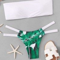 Palm Print Mix & Match Bikini Set
