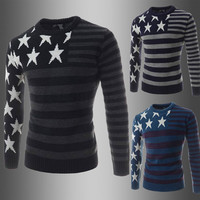 Stars and Stripes Men's Knit Sweater