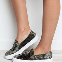 Walk The Walk Velvet Sneakers