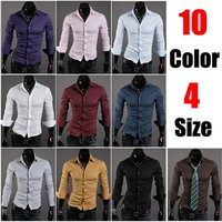 Formal Shirts For Men - 10 Color Casual Dress Shirts
