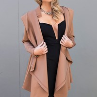 Wrapped Up Coat - brown winter coat