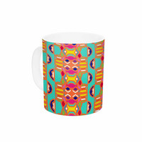"Miranda Mol ""Summer Fun"" Treal Orange Ceramic Coffee Mug"