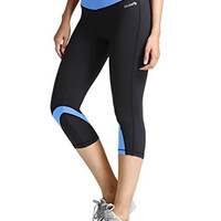 Women's Yoga Leggings Running Workout Capri Legging Hidden Pocket