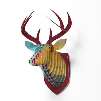 DENY Designs Home Accessories | Madart Inc. Refreshing 2 Faux Deer Mount
