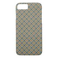 Morrocan Inspired in Brown, Pale Green, Dark Teal iPhone 7 Case