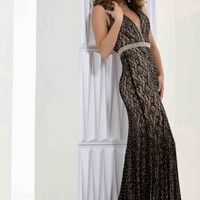 Jasz Couture Lace Fitted Dress 5643