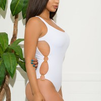 Bacalar One Piece Swimsuit White