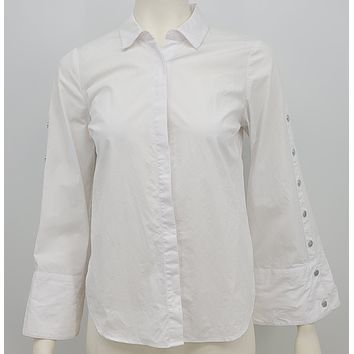 Kensie  Bell Sleeve Top White Size Xsmall