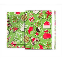 The Red and Green Christmas Icons Skin Set for the Apple iPad Air 2