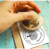 Love Ducks Wood Stamp (MyRubberStamp Exclusive Handmade Wood Stamp). Pick 1 Rubber Stamp Design from our shop. Personalized Stamp