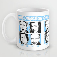 ONE DIRECTION POP SQUARES Mug by Dan Ron Eli