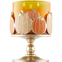 Multi Pumpkin Pedestal 3-Wick Candle Sleeve | Bath And Body Works
