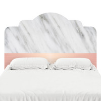 Pale Pink on Marble Headboard Decal