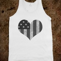 HEART AMERICA TANK - Underline Designs - Skreened T-shirts, Organic Shirts, Hoodies, Kids Tees, Baby One-Pieces and Tote Bags