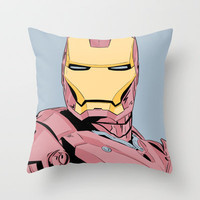Avengers - Iron Man Throw Pillow by Averagejoeart | Society6