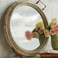 Distressed Mirror Tray -- 23-in