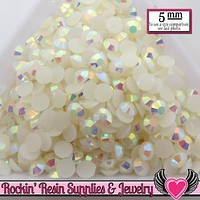 5mm 200 pcs AB Jelly Cream White Rhinestones