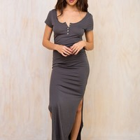 Minkpink Henley Maxi Dress
