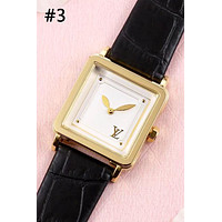 LV simple fashion square women's waterproof quartz watch #3