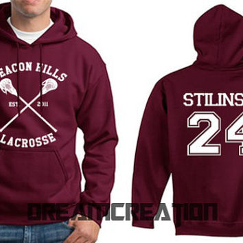 STILINSKI 24 Beacon Hills Lacrosse Wolf 24 Number  Teen Unisex Hoodie - Tumblr Text - Part 1