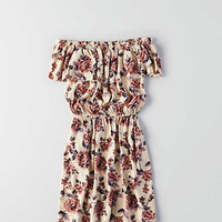 Don't Ask Why Off-the-Shoulder Ruffle Dress, Natural