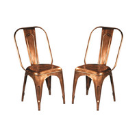 Burnished Stacking Chairs - Set of 2