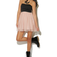 Party Dress With Tulle Skirt   Shop Just Arrived at Wet Seal