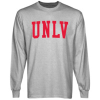 UNLV Rebels Basic Arch Long Sleeve T-Shirt - Ash