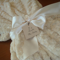 Throw Blanket Adult Minky Blanket Christmas Blanket - Creamy Ivory Faux Fur White Minky Swirl Bedding Extra Large Long Minky Blanket