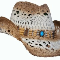Western Cowboy Hat with Beaded Band
