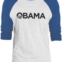 Big Texas Obama For President (Black) 3/4-Sleeve Raglan Baseball T-Shirt