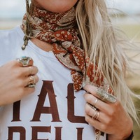 Moroccan Tile Printed Neck Scarf
