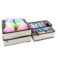 MIU COLOR Drawer Dividers Closet Organizers Bra Underwear Storage Boxes (Set of 4)