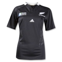 All Blacks RWC 2011 Women's Home SS Rugby Jersey - WorldRugbyShop.com