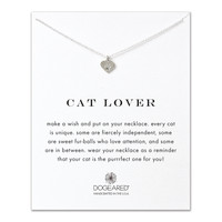 cat lover best friend heart paw necklace, sterlingsilver - Dogeared
