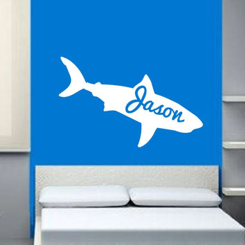 Personalized Shark Vinyl Wall Decal 22325