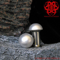 White Pearl Dome Ear Plugs 2g, 0g, 00g Plugs Gauges