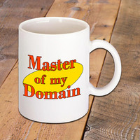 Master of my Domain Seinfeld TV Show Quote Coffee Mug, Funny Quotes, Coffee Lover, Hot Drinks, Jerry Seinfeld, Ceramic Mug
