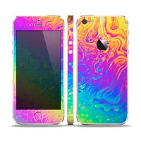 The Neon Color Fushion V2 Skin Set for the Apple iPhone 5s