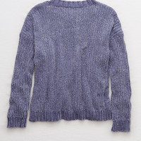 Aerie Chenille Sweater, Navy