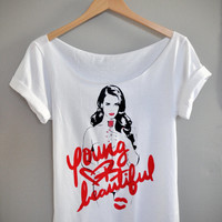 Lana Del Rey - Young and Beautiful Off-Shoulder / T-Shirt (XS-XL)