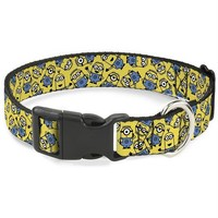 DCCKGW6 Buckle-Down Minions Scattered Yellow Pet Collar